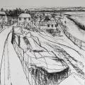 Mistley Quay Drawing triptych pt.1